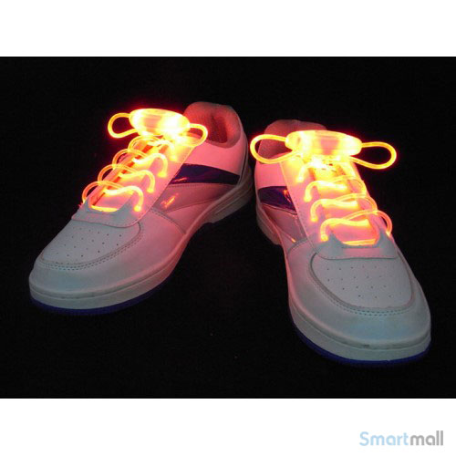 Cool LED snørebånd i skarpe farver - Rød