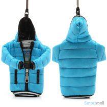 Cool lynlås jakke cover til iPhone 7/6S/6 / Samsung i9500 / mfl. - Baby blå