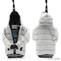Cool lynlås jakke cover til iPhone 7/6S/6 / Samsung i9500 / mfl. - Hvid