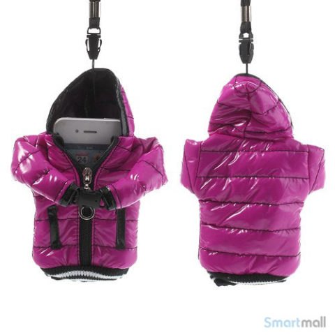 Cool lynlås jakke cover til iPhone 7/6S/6 / Samsung i9500 / mfl. - Rose