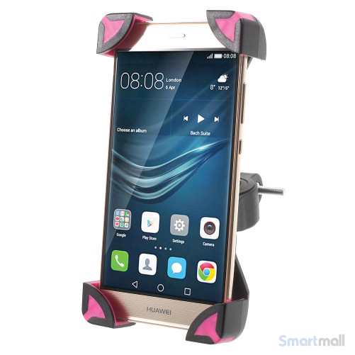 Cykelholder til b.la. iPhone/Samsung/HTC/Mfl. Max 180x92mm - Rose