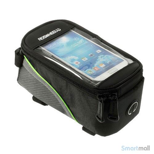 """Cykeltaske til smartphone fra Roswheel m/vindue til 4.2"""" skærm - Grøn"""