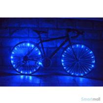 Fede LED lys til cykelhjul i smarte farver - Blå