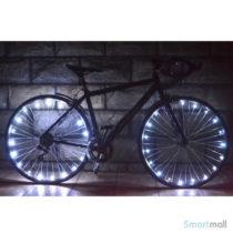 Fede LED lys til cykelhjul i smarte farver - Hvid