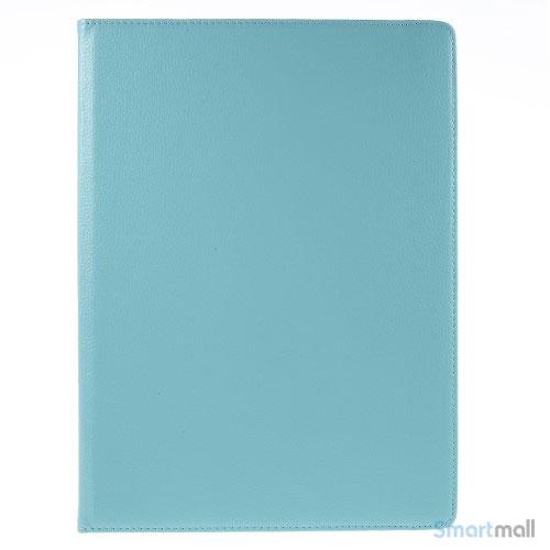 """Fuld roterende lædercover til iPad Pro 12.9"""" m/stand - Baby blå"""