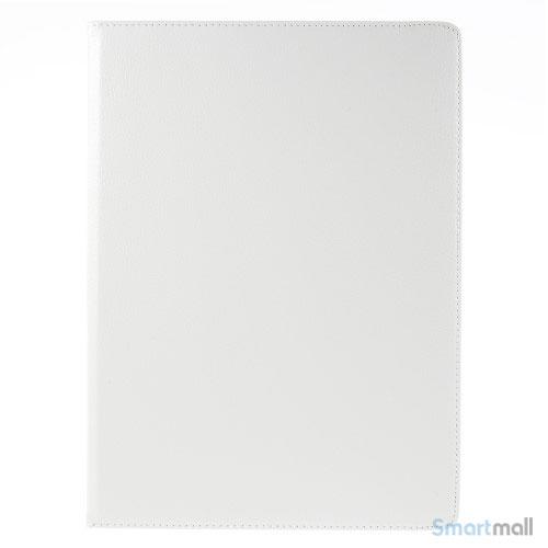 """Fuld roterende lædercover til iPad Pro 12.9"""" m/stand - Hvid"""
