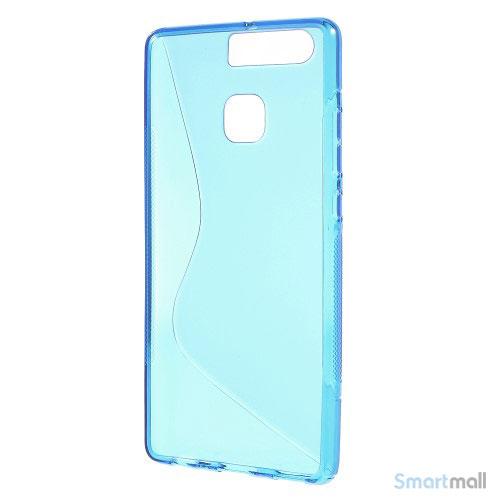 Huawei P9 Blødt TPU/silikone cover - Blå