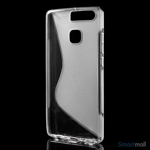 Huawei P9 Blødt TPU/silikone cover - Gennemsigtigt