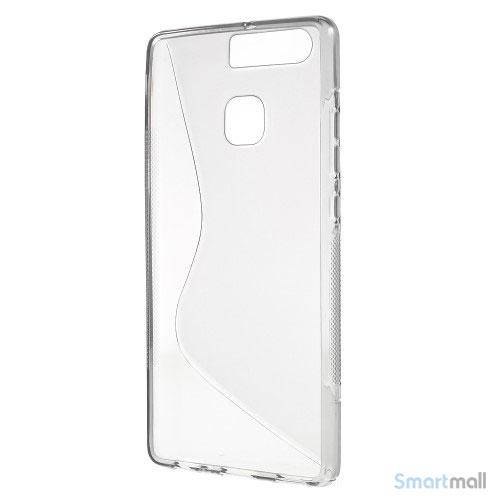 Huawei P9 Blødt TPU/silikone cover - Grå