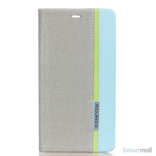 Lækkert farverigt lædercover m/stand til Huawei P9 - Grå