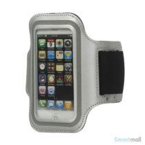 Lækkert sport/fitness armbånd til iPhone 5/SE- Hvid