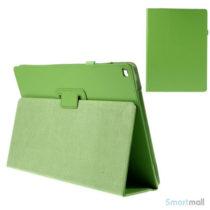 "Litchi Texture smart lædercover m/stand funktion til iPad Pro 12.9"" - Grøn"