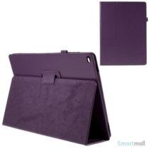 "Litchi Texture smart lædercover m/stand funktion til iPad Pro 12.9"" - Lilla"