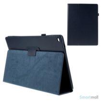 """Litchi Texture smart lædercover m/stand funktion til iPad Pro 12.9"""" - Mørkeblå"""