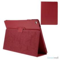 "Litchi Texture smart lædercover m/stand funktion til iPad Pro 12.9"" - Rød"