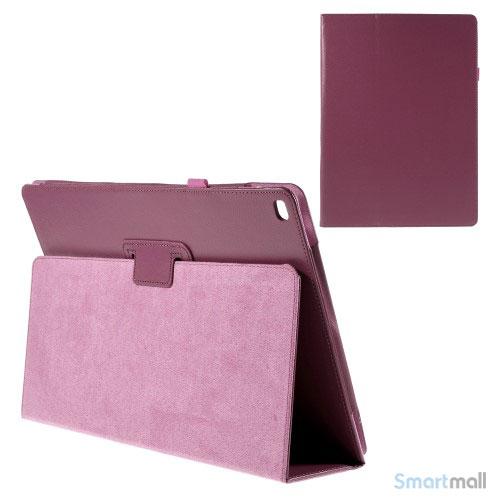 "Litchi Texture smart lædercover m/stand funktion til iPad Pro 12.9"" - Rose"