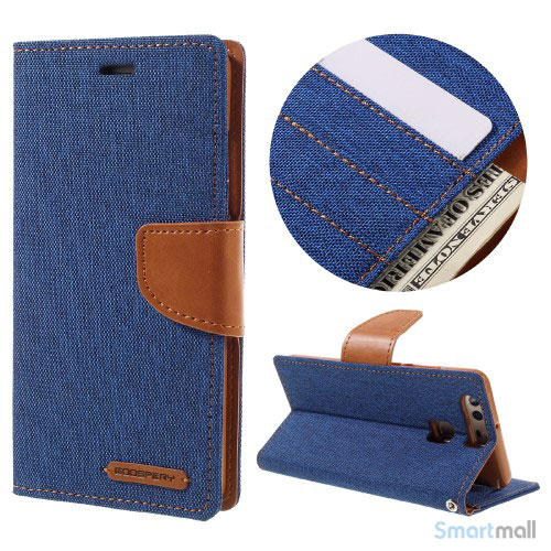 MERCURY GOOSPERY Canvas lædercover m/stand - Baby blå