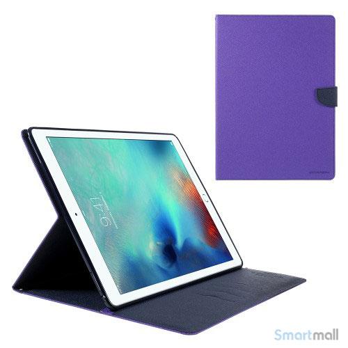 "MERCURY GOOSPERY lædercover m/stand & pung til iPad Pro 12.9"" - Lilla"
