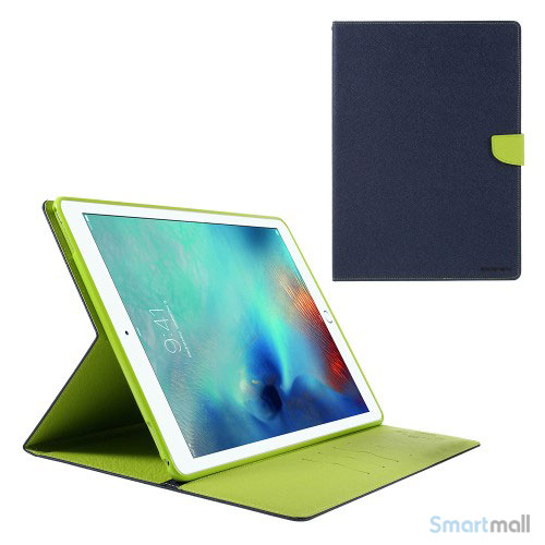 "MERCURY GOOSPERY lædercover m/stand & pung til iPad Pro 12.9"" - Blå"