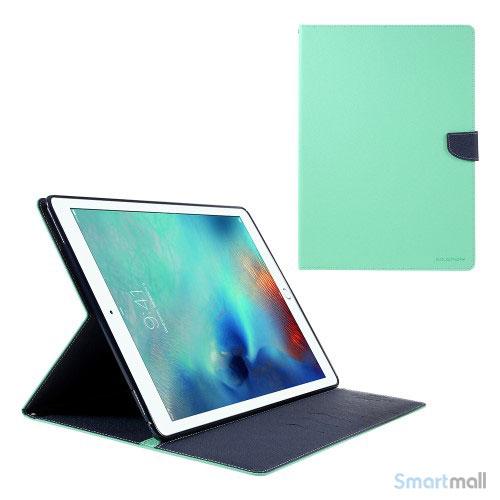 "MERCURY GOOSPERY lædercover m/stand & pung til iPad Pro 12.9"" - Cyan"