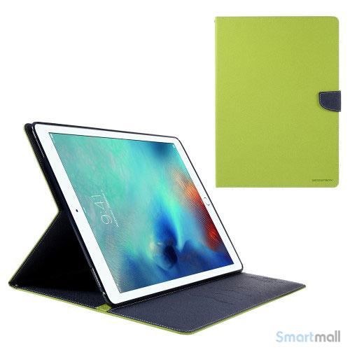 "MERCURY GOOSPERY lædercover m/stand & pung til iPad Pro 12.9"" - Grøn"