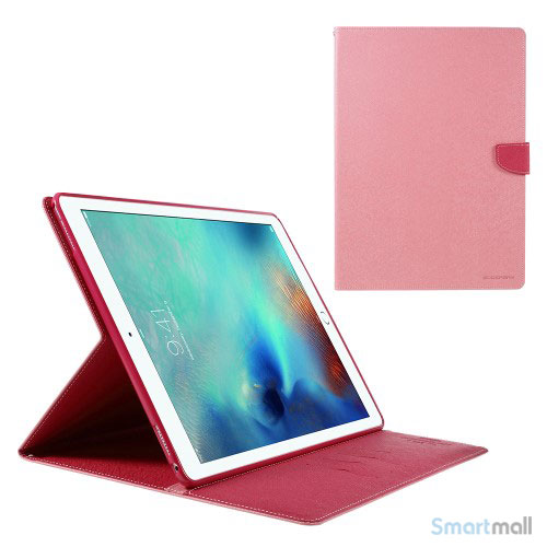 "MERCURY GOOSPERY lædercover m/stand & pung til iPad Pro 12.9"" - Pink"