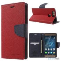 MERCURY GOOSPERY robust læderpungs cover til Huawei P9 - Rød
