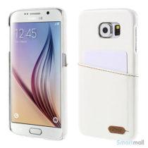 ROAR KOREA læder belagt PC cover til Galaxy S6 G920 - Hvid