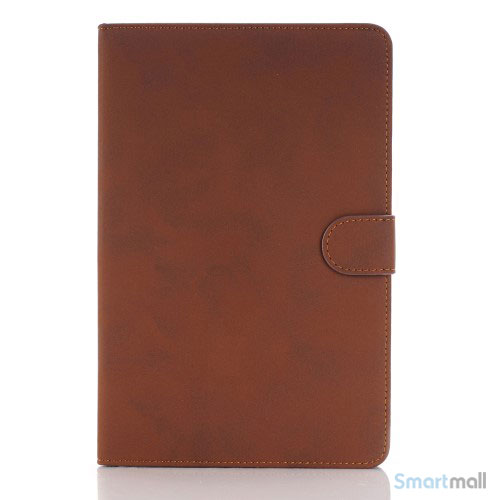 "Smart lædercover til iPad Pro 12.9"" i lækkert retro design - Brun"