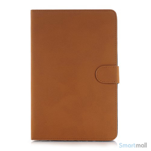 "Smart lædercover til iPad Pro 12.9"" i lækkert retro design - Orange"