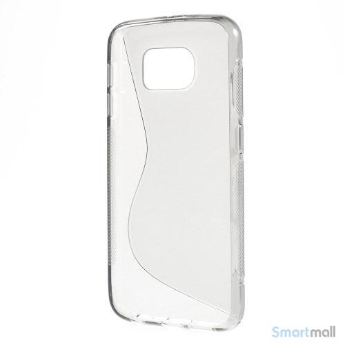 TPU S-formet silikone cover til Samsung Galaxy S6 G920 - Grå