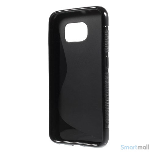 TPU S-formet silikone cover til Samsung Galaxy S6 G920 - Sort