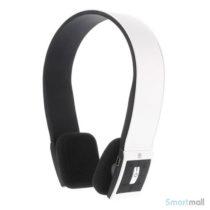 Trådløse bluetooth høretelefoner i flot design m/mikrofon - Hvid