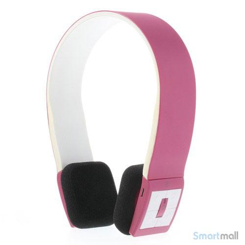Trådløse bluetooth høretelefoner i flot design m/mikrofon - Rød