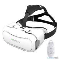 shinecon 2.0 3D VR brille til smartphones m/fjernbetjening - Hvid