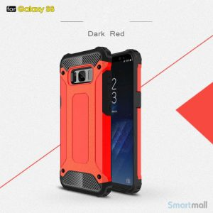 Armor Guard cover I TPU materiale til Samsung Galaxy S8 – Rød