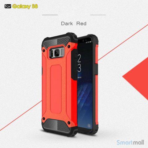 Armor Guard cover I TPU materiale til Samsung Galaxy S8 – Rød