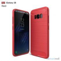 Cover I TPU materiale og borstet overflade til Samsung Galaxy S8 – Rød