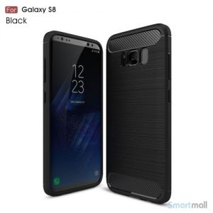 Cover I TPU materiale og børstet overflade til Samsung Galaxy S8 – Sort