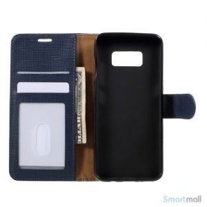 Cover m/kortholder i kontrastfarvet design til Samsung Galaxy S8 – Blå