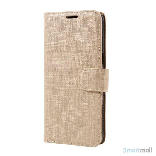 Cover m/kortholder i kontrastfarvet design til Samsung Galaxy S8 – Guldfarve