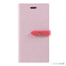 Feminin laederpung fra MERCURY GOOSPERY til iPhone X/10 - Pink