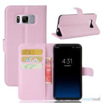 Flot Lychee cover-pung m/kreditkortholder i pink til Samsung Galaxy S8