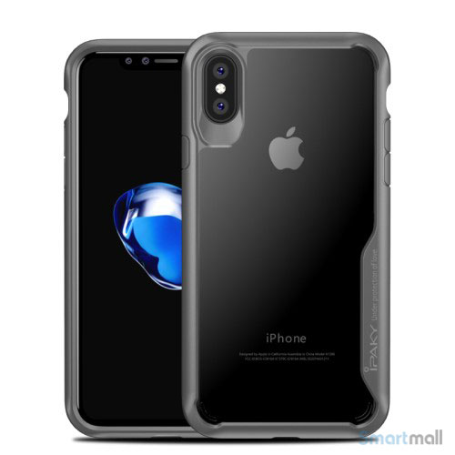 IPAKY Anti-drop PC & Hybrid cover til iPhone X / 10 - Grå