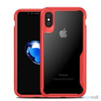 IPAKY Anti-drop PC & Hybrid cover til iPhone X / 10 - Rød