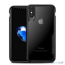IPAKY Anti-drop PC & Hybrid cover til iPhone X / 10 - Sort