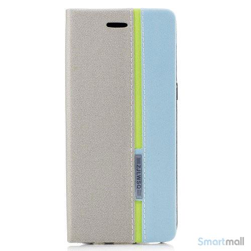 Lækker kontrastfarvet cover m:kortholder til Samsung Galaxy S8 – Grå