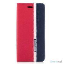 Lækker kontrastfarvet cover m:kortholder til Samsung Galaxy S8 – Rød