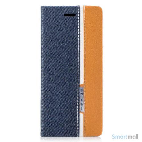 Lækker kontrastfarvet cover m:kortholder til Samsung Galaxy S8 - Mørkeblå