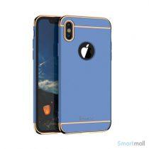 Luksuriøst IPAKY 3-i-1 cover til iPhone X / 10 - Blå